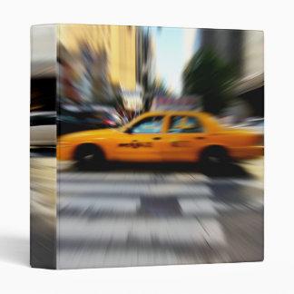 "NYC Yellow Taxi Blur 1"" Photo Album 3 Ring Binders"