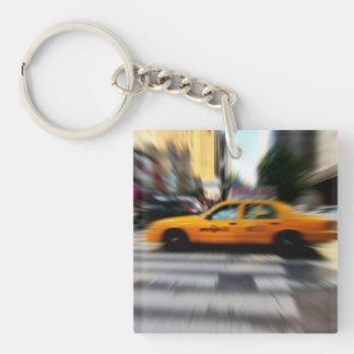 NYC Yellow Taxi Blur Keychain