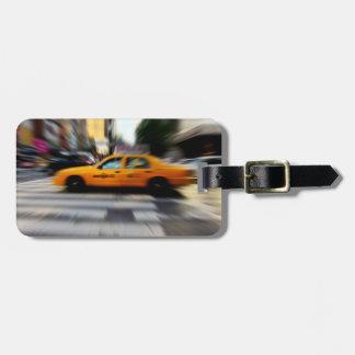 NYC Yellow Taxi Blur Luggage Tag