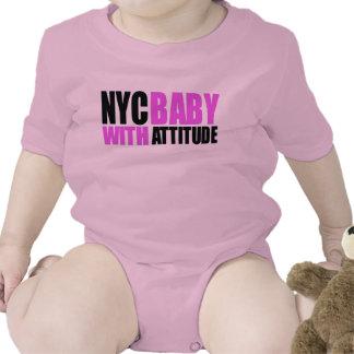 NycBabywAttitude_blk&pink girl Tees