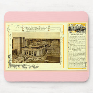 NYCentral Railroad Flyer - Grand Central Terminal Mousepads