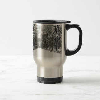 NYC's Central Park in Winter Travel Mug