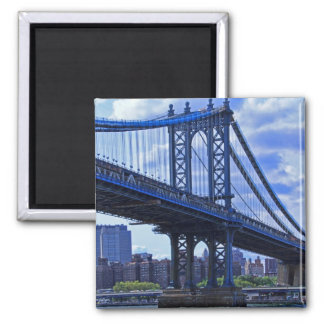NYC's Manhattan Bridge A2 2 Inch Square Magnet