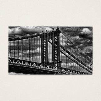 NYC's Manhattan Bridge BW A1 Business Card