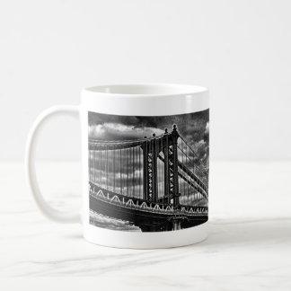NYC's Manhattan Bridge BW A1 Coffee Mugs