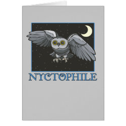 Note Card with Nyctophile design