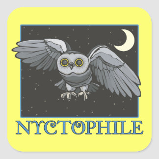 Nyctophile Pegatina Cuadradas Personalizadas