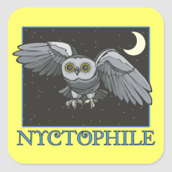 Square Sticker with Nyctophile design