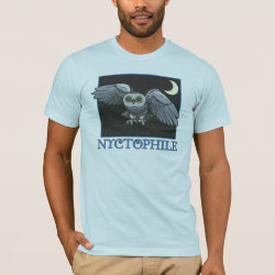 Men's Basic American Apparel T-Shirt with Nyctophile design