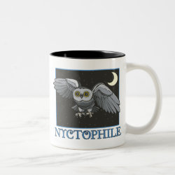 Two-Tone Mug with Nyctophile design