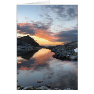 Nydiver Lakes Sunrise 2 - Ansel Adams Wilderness Card