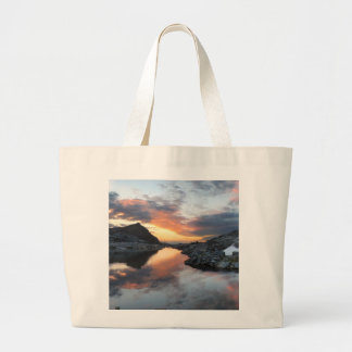 Nydiver Lakes Sunrise 2 - Ansel Adams Wilderness Large Tote Bag