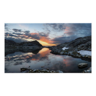 Nydiver Lakes Sunrise 2 - Ansel Adams Wilderness Poster