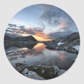 Nydiver Lakes Sunrise - Ansel Adams Wilderness Classic Round Sticker