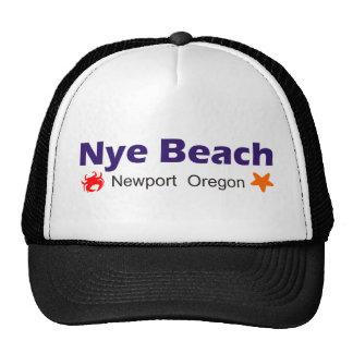 Nye Beach Newport Oregon Mesh Hat