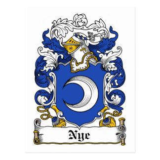 Nye Family Crest Postcard