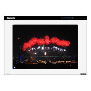 "NYE Fireworks over Harbour Bridge 15"" Laptop Decals"