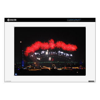 "NYE Fireworks over Harbour Bridge 15"" Laptop Decals"