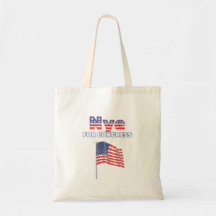 Nye for Congress Patriotic American Flag Tote Bag
