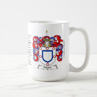 Nye, the Origin, the Meaning and the Crest Coffee Mug