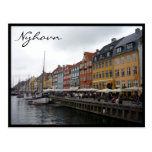 nyhavn denmark colors post card