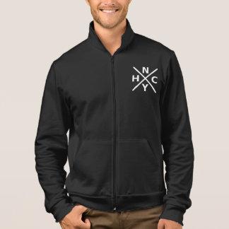 NYHC - New York Hardcore Black Fleece Zip Jogger Printed Jacket