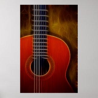 Nylon Stringed Guitar Poster