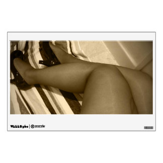 Nylon Thigh Highs in Shiny Pumps Shoes Wall Decal