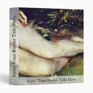 Nymph At The Source By Pierre-Auguste Renoir Vinyl Binder