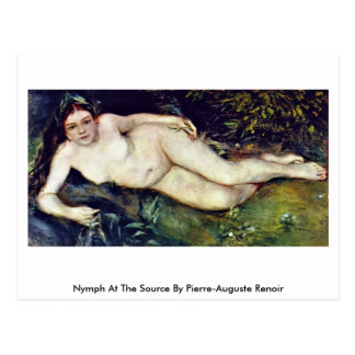 Nymph At The Source By Pierre-Auguste Renoir Postcards
