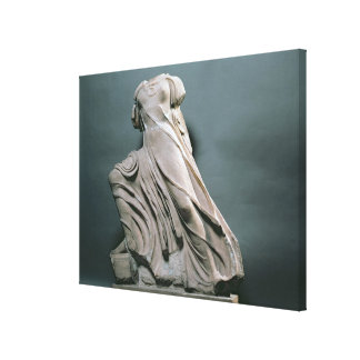 Nymph figure, acroterion from the Temple of Phigal Stretched Canvas Print