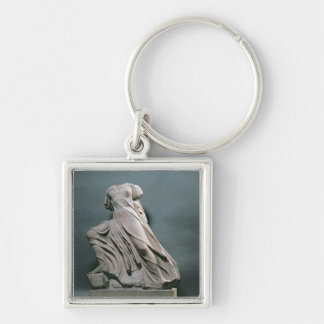 Nymph figure, acroterion from the Temple of Phigal Silver-Colored Square Keychain