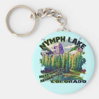 Nymph Lake, Rocky Mountain National Park Basic Round Button Keychain