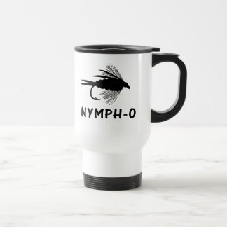 Nymph-O funny fly fishing lure 15 Oz Stainless Steel Travel Mug
