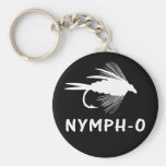 Nymph-O funny fly fishing lure Keychain
