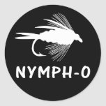Nymph-O funny fly fishing lure Sticker