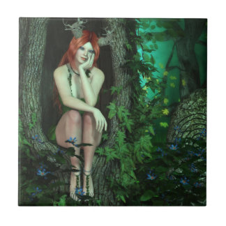 Nymph of the Old Oak Forest Ceramic Tile