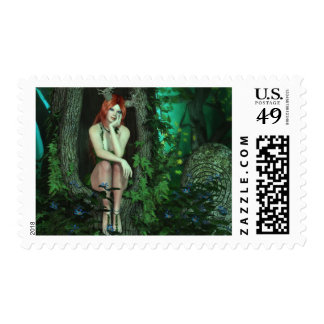 Nymph of the Old Oak Forest Postage