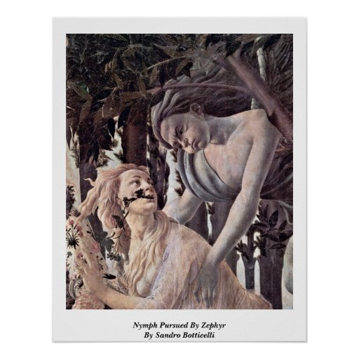 Nymph Pursued By Zephyr By Sandro Botticelli Print