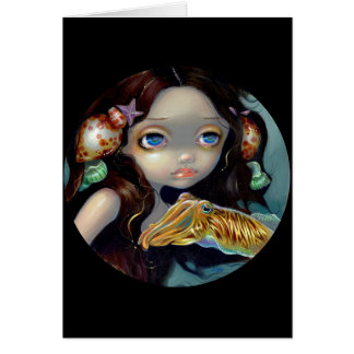 """""""Nymph with a Cuttlefish"""" Greeting Card"""