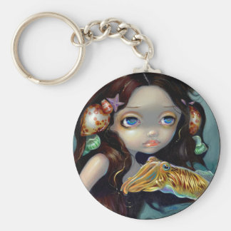 """""""Nymph with a Cuttlefish"""" Keychain"""