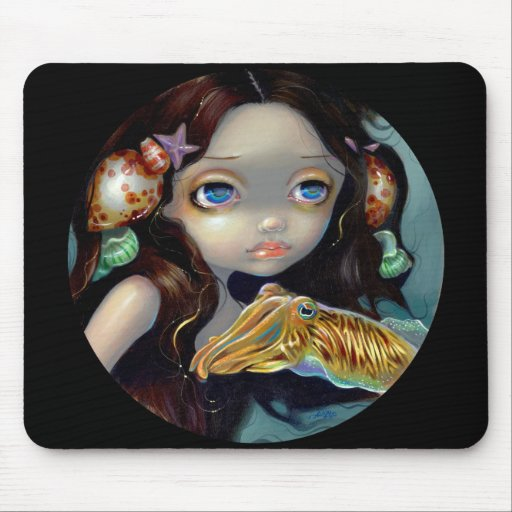 """""""Nymph with a Cuttlefish"""" Mousepad"""