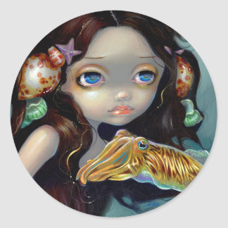 """""""Nymph with a Cuttlefish"""" Sticker"""