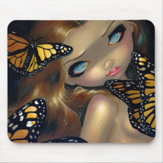"""Nymph with Monarchs"" Mousepad"