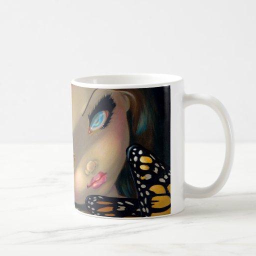 """Nymph with Monarchs"" Mug"