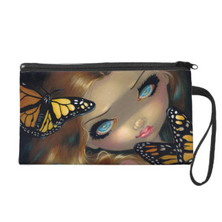 """Nymph with Monarchs"" Wristlet"