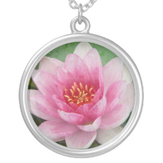 Nymphaea tetragona custom necklace