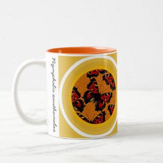Nymphalis xanthomelas Two-Tone coffee mug