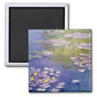 Nympheas at Giverny 2 Inch Square Magnet