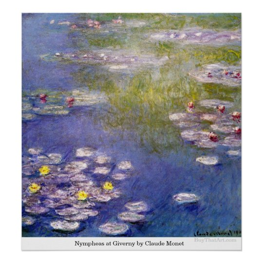 Nympheas at Giverny by Claude Monet Poster
